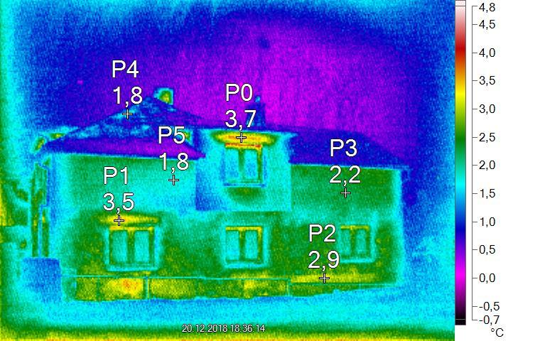Termosnímek domu