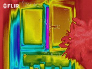 Větrání – termovize vidí stopy způsobu větrání
