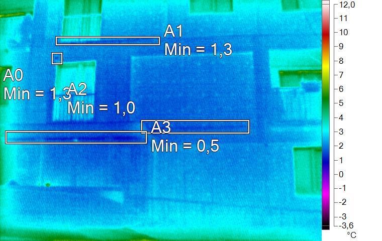 termosnímek voda na fasádě zatékání do bytu